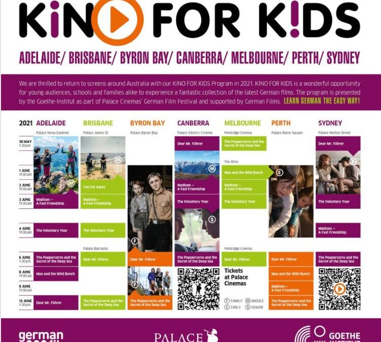 Kino für Kids : May 30 – June 13                                       Check out SAGTA's FB page for details!